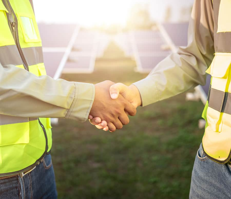 solar handshake