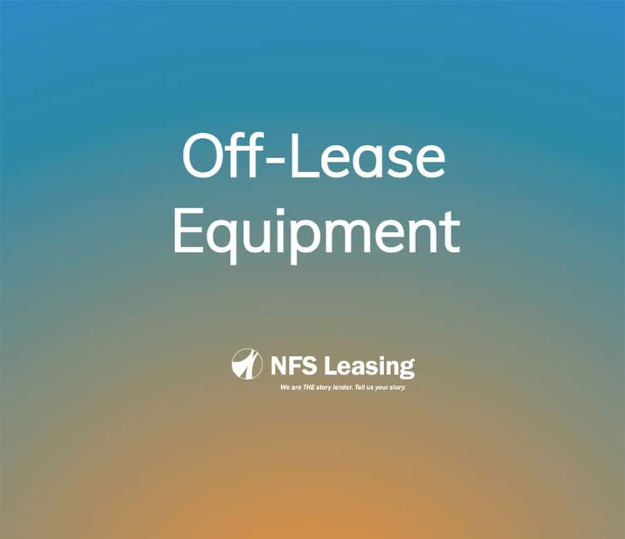 Off-Lease Equipment For Sale or Lease